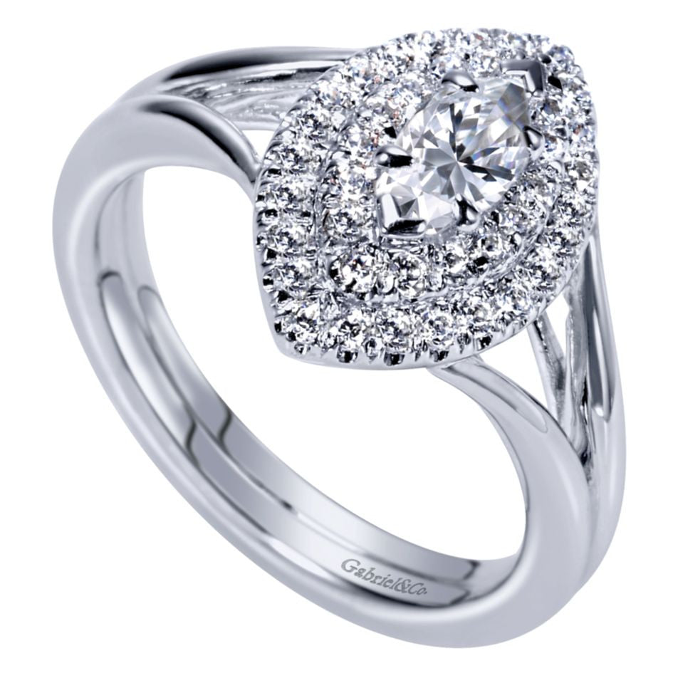 Ladies' Marquise 14k White Gold Diamond Engagement Ring