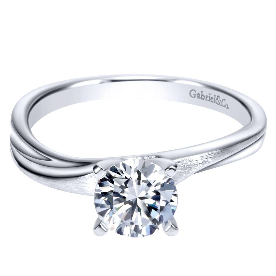 Ladies' Solitaire 14k White Gold Diamond Engagement Ring