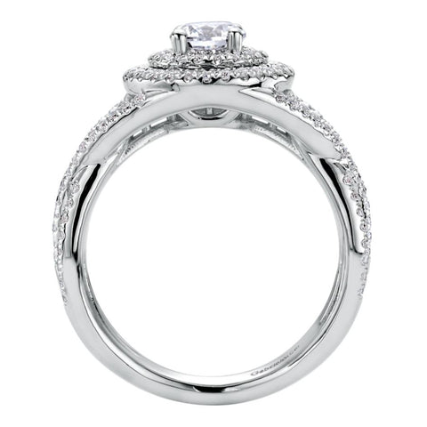 Ladies' Royal Pave 14k White Gold Diamond Engagement Mounting by Jewelry Designer Gabriel and Co