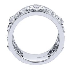 Ladies' Sterling Silver and White Sapphires Fashion Band