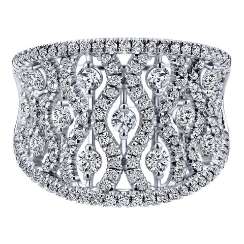 Anniversary Royal Lace White Gold Ring