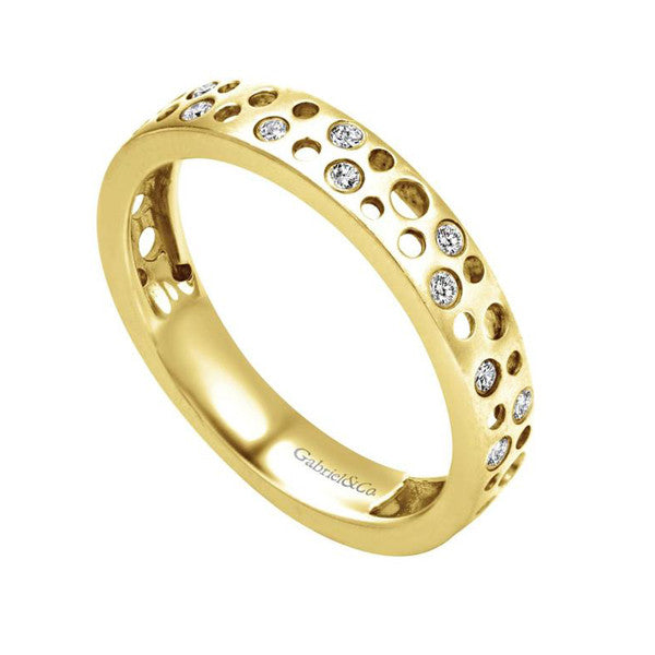Ladies' Open Space 14k Yellow Gold Diamond Band