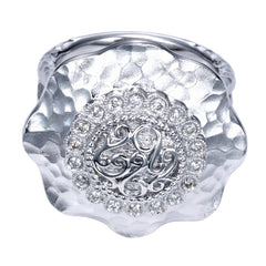 Ladies' Sterling Silver and Diamonds Fashion Ring