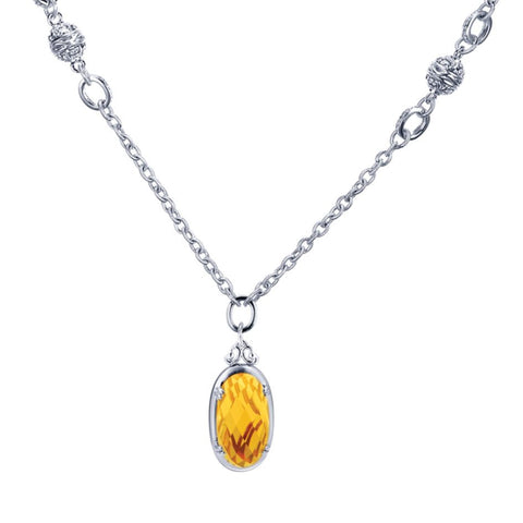 Sterling Silver and Citrine Pendant