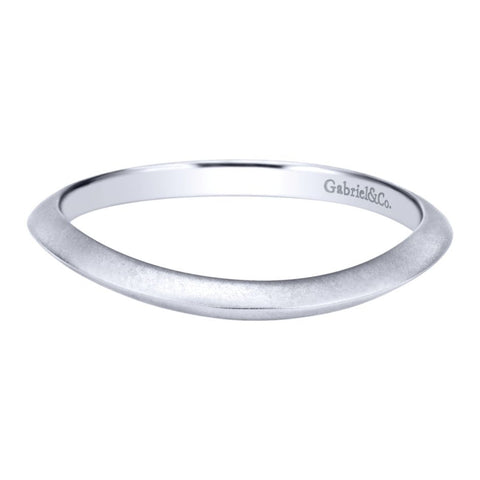 Gabriel and Co White Gold Curved Band