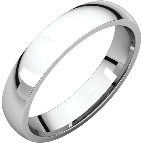 Men's Comfort Fit Light 4 mm Wedding Band