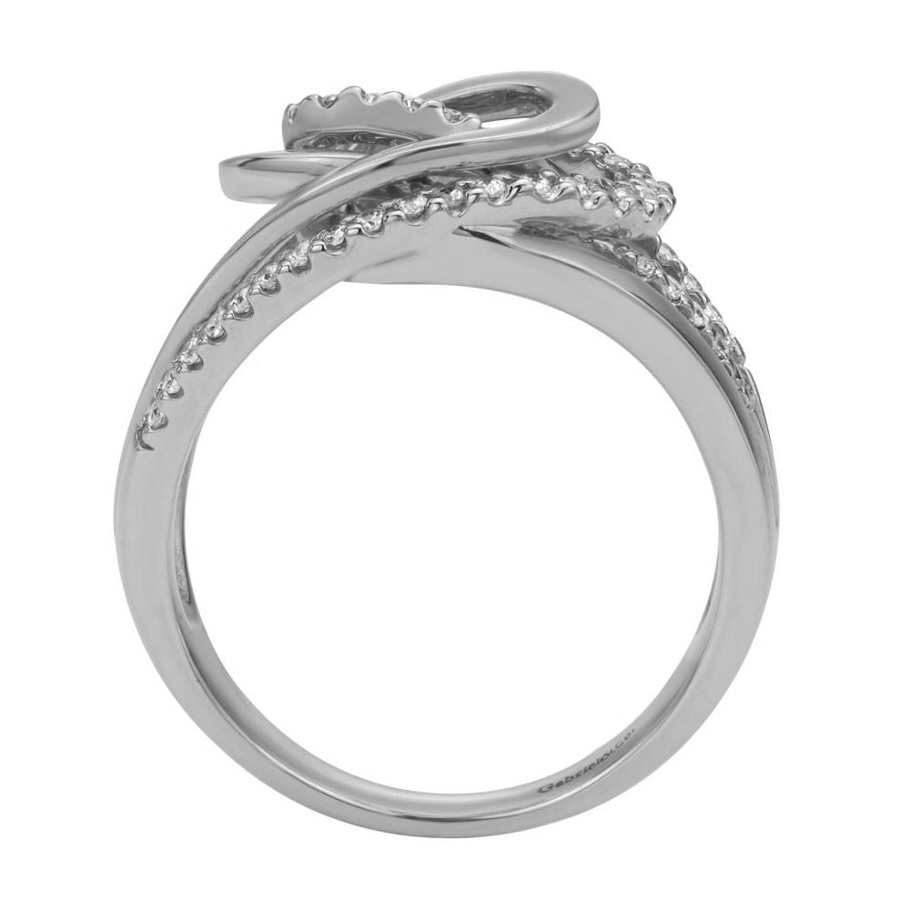 Open Space Diamond Pave Cocktail Ring