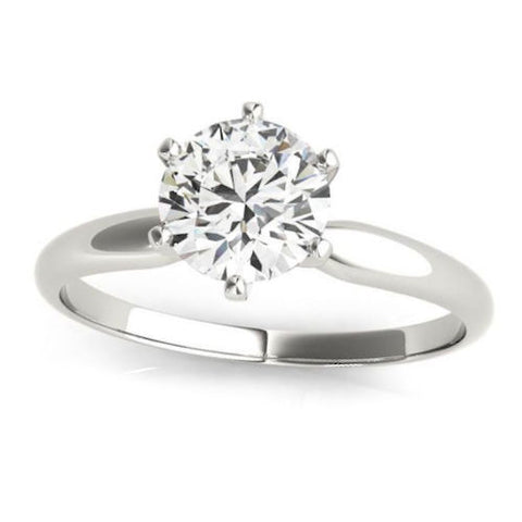 Platinum Tiffany Style Solitaire Diamond Engagement Mounting