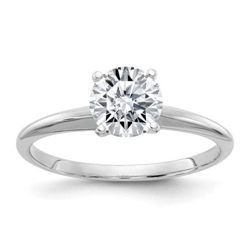 White Gold Tiffany Style Solitaire Diamond Engagement Mounting