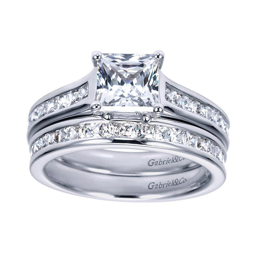 Classic Channel Set White Gold Diamond Band