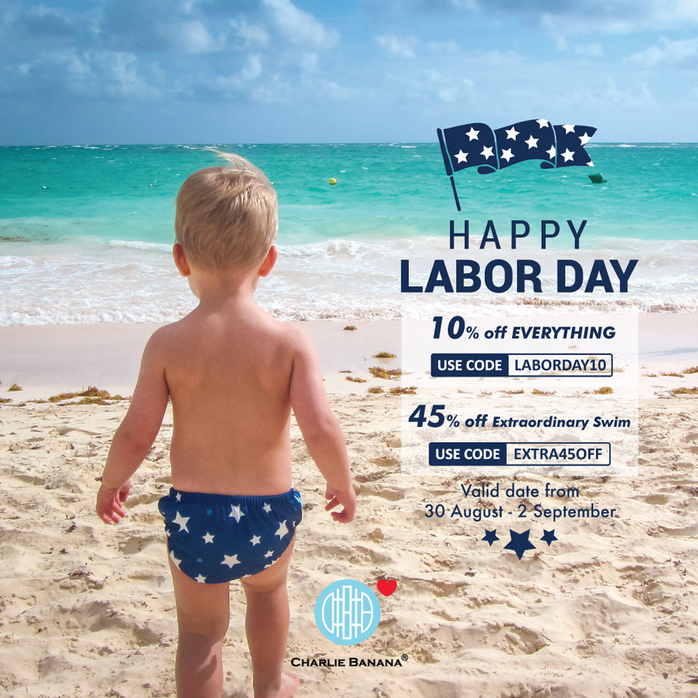 Labor Day Sale! 10% OFF EVERYTHING + 45% OFF Extraordinary Swim Diaper