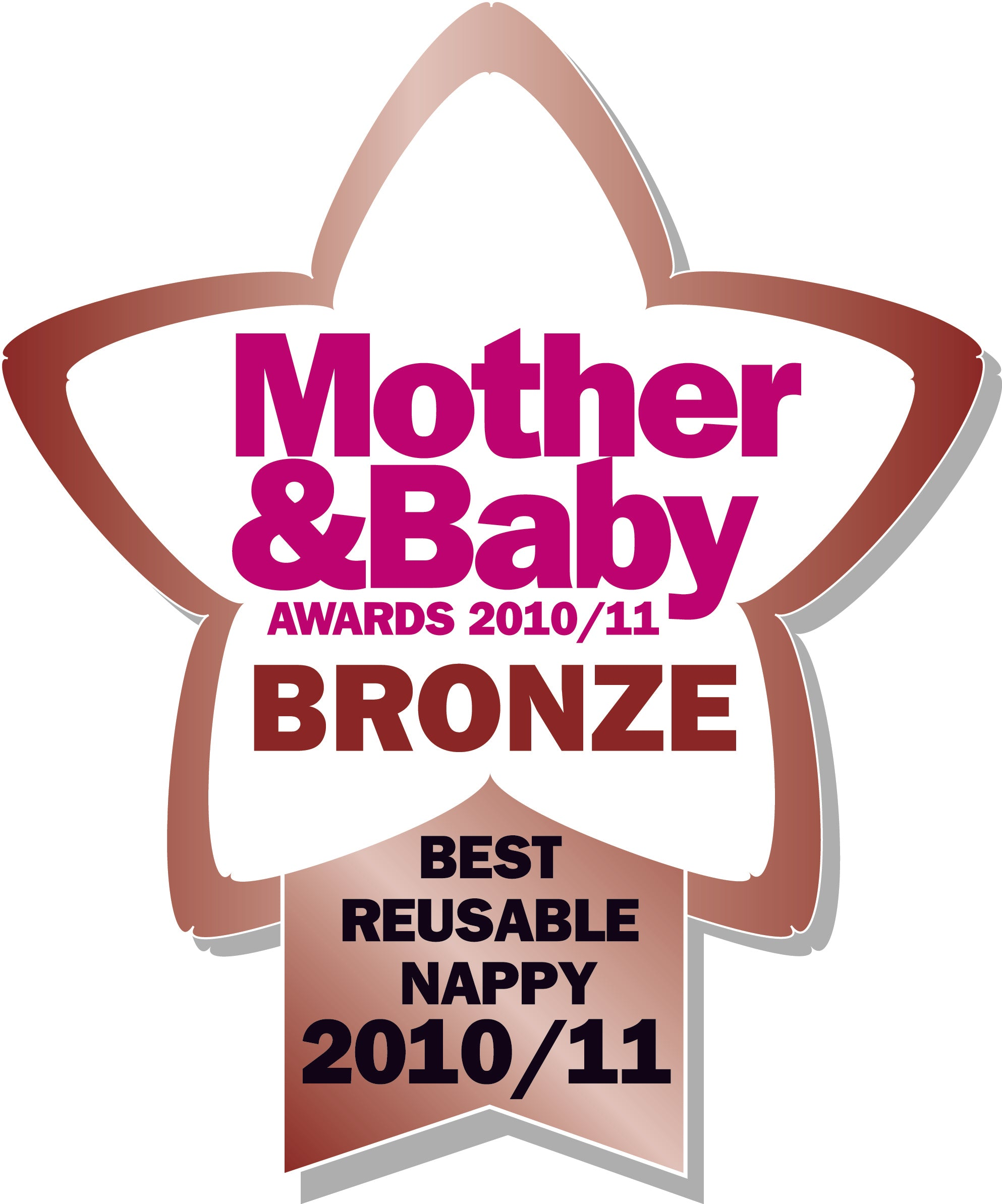 Best Reusable Nappy - Mother and baby Bronze Awards 2010
