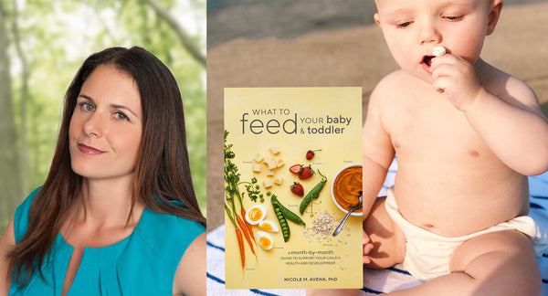 Dr. Nicole M. Avena with new book and baby