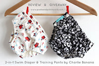 Charlie Banana® 2-in-1 swim diaper & training pants (with & without snaps) by Pasta & Patchwork