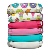 6 Diapers 12 Inserts Dessert One Size Hybrid AIO