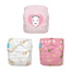 3 Diapers 6 Inserts Pink Sophie La Girafe One Size Hybrid AIO