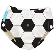 Reusable Easy Snaps Swim Diaper Soccer Medium