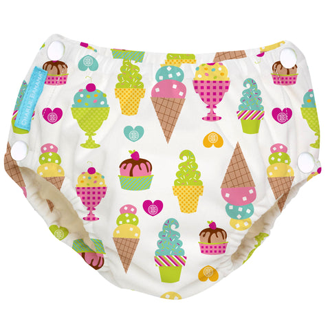 Reusable Easy Snaps Swim Diaper Gelato Large