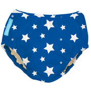 Reusable Swim Diaper White Stars Blue Large