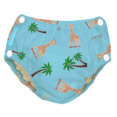 Reusable Easy Snaps Swim Diaper Sophie Coco Blue X-Large