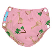 Reusable Easy Snaps Swim Diaper Sophie Coco Pink Medium