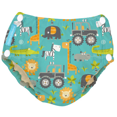 Reusable Easy Snaps Swim Diaper Gone Safari Medium