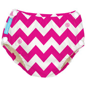 Reusable Easy Snaps Swim Diaper Hot Pink Chevron Medium