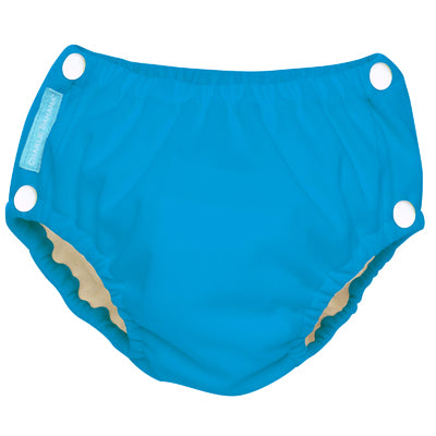 Reusable Easy Snaps Swim Diaper Turquoise Small