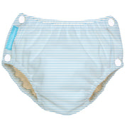 Reusable Easy Snaps Swim Diaper Pencil Stripes Blue Medium