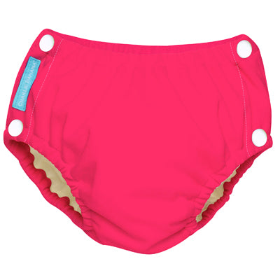 Reusable Easy Snaps Swim Diaper Fluorescent Hot Pink Medium