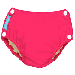 Reusable Easy Snaps Swim Diaper Fluorescent Hot Pink Large