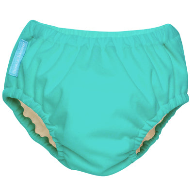Reusable Swim Diaper Fluorescent Turquoise Small