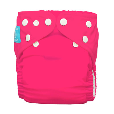 Diaper 2 Inserts Fluorescent Hot Pink One Size Hybrid AIO