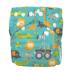 Diaper 2 Inserts Gone Safari One Size Hybrid AIO