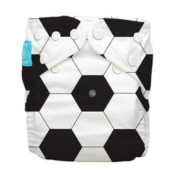 Diaper 2 Inserts Soccer One Size Hybrid AIO