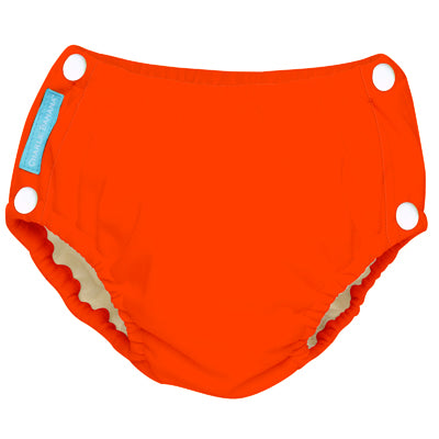 Reusable Easy Snaps Swim Diaper Fluorescent Orange Medium