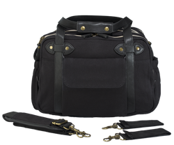 Black Charlie Diaper Bag w/Black Handles