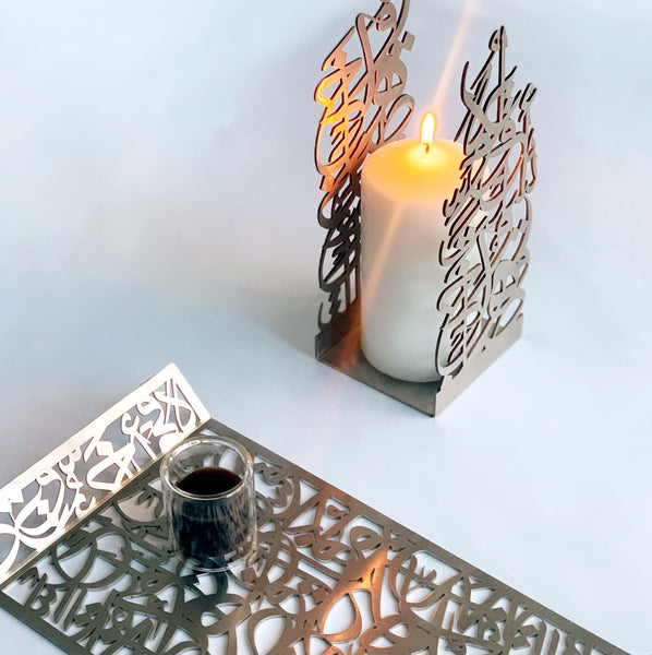 Steel Candle holder