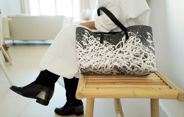 Caligraphy Tote Bag
