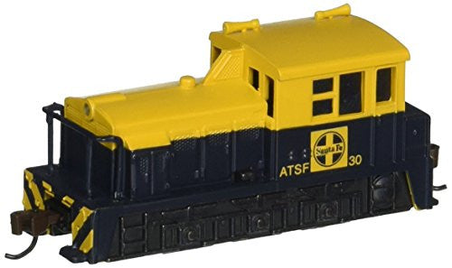 N Bachmann Santa FE #30 MDT Plymouth Switcher Train Blue/Yellow