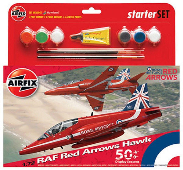 1:72 UK Red Arrows Hawk Set -  A55202A