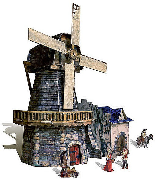 Medieval Windmill Paper Kit