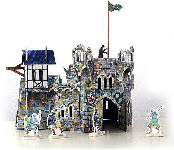 Medieval Round Tower Paper Kit
