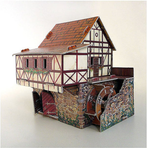 Medieval Water Mill Paper Kit