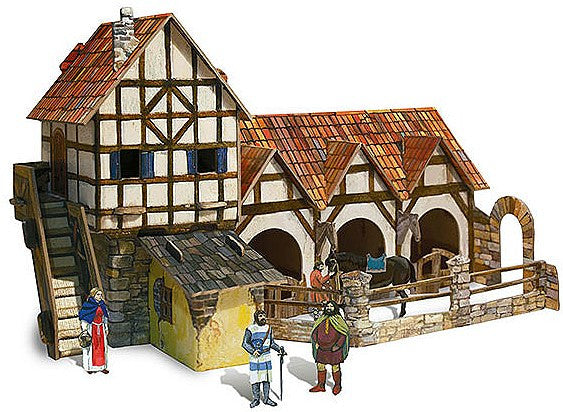 Medieval Stable Paper Kit