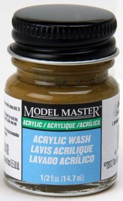 1/2 oz Acryl Paint  Flat Brown Oak Detail Wash