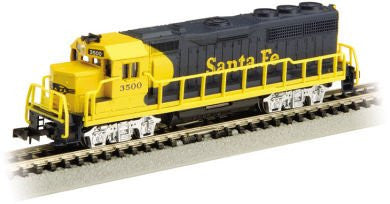 N Bachmann GP40 - Santa Fe (Yellow And Blue)