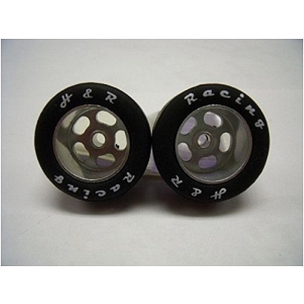 H&R Racing HR1301 27 X 12MM Rubber Tires Silver Anodized hubs