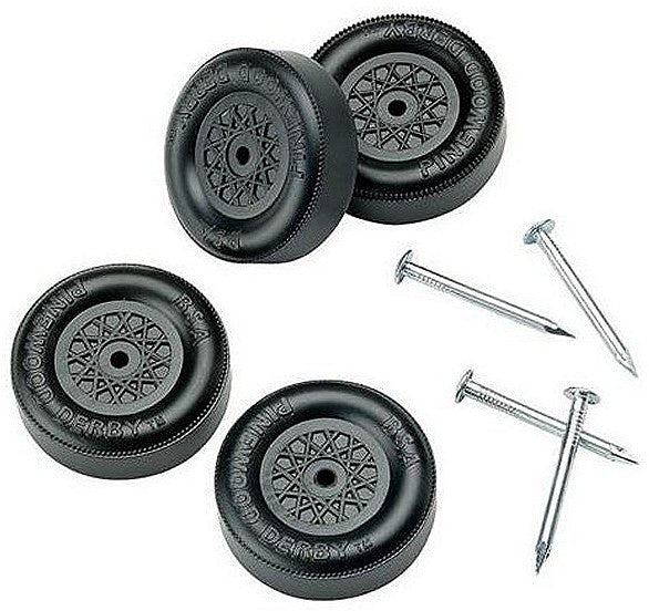 Pinewood Derby Wheels & Axles