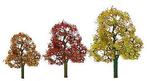 "Deciduous Fall Trees 2-3"" (4)"